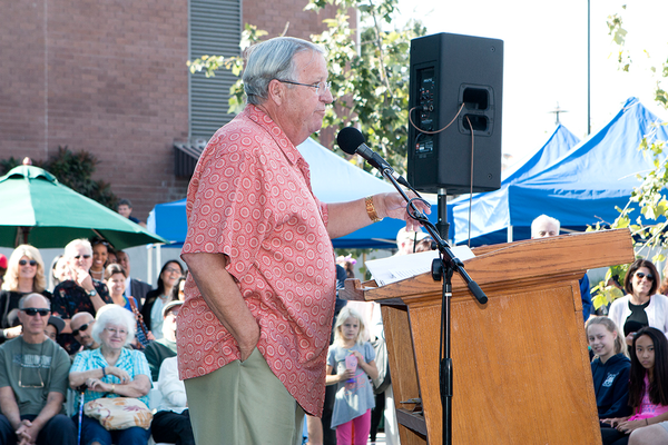 Los Angeles County Supervisor Don Knabe addresses the crowd. Photo by Brad Jacobson.