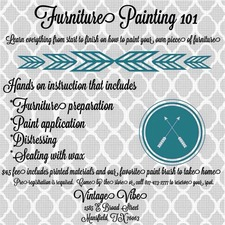 Furniture Painting 101 - start May 20 2015 0630PM