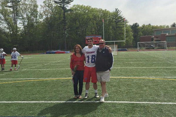 Alex Schelfhaudt and his parents.