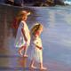 Beach Girls Strolling - Breaking Through - Artwork photo courtesy of Victoria Brooks