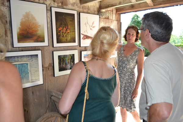 Chadds Ford photographer Karen Gowen's latest work was displayed on the barn's walls.
