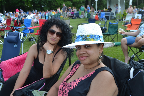 Carmen Miller and Brenda Santiago came to the festival from New York City.