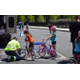 AAA checking Tewksbury residents air pressure during Bike Rodeo.