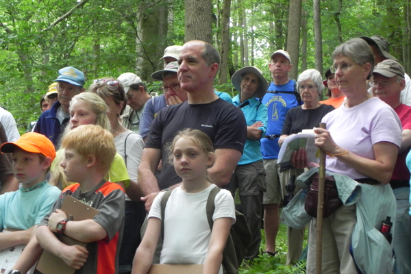 Hikers of all ages participated in the National Trails Day hike and Mason-Dixon ceremony.