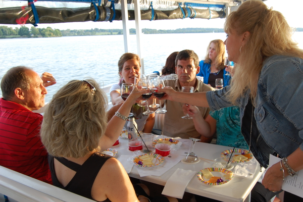 One of the popular special cruises offered by M/V Bay Breeze is the Wednesday Wine Down.