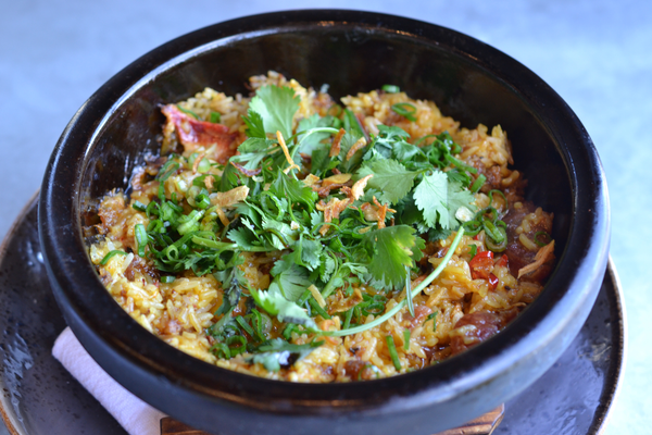 Lobster Fried Rice from Little Sister in Manhattan Beach. Photo credit: Jeanne Fratello for DigMB