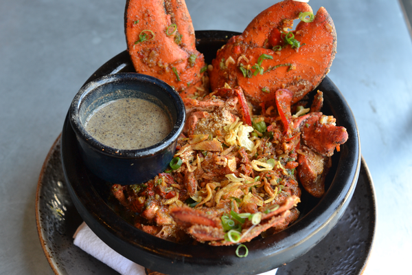 Salt & Pepper Lobster from Little Sister in Manhattan Beach. Photo credit: Jeanne Fratello for DigMB