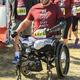 Adam Keys, the event's inspiration, crosses the finish line