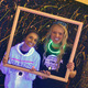 Angelina Damiano and Kristen Swain had fun with black lights in the 80's arcade