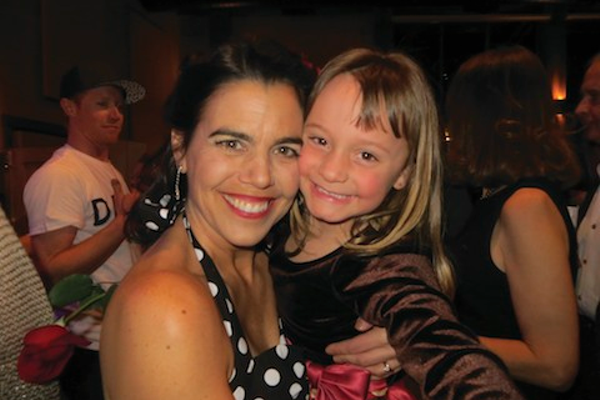 Dancing with the Stars' highest fundraiser contestant, Lisa Olson, and her daughter, Abby Olson.
