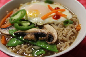 Medium ramen 20with 20vegetables 20and 20egg