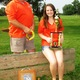 Kelly Hatrick and his daughter Emily with her trophy from the junior world championships of horseshoe pitching