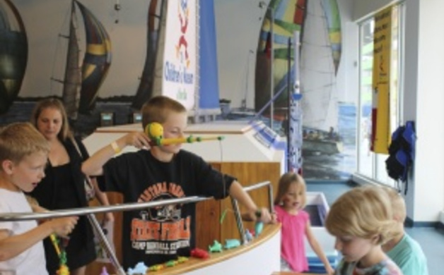 """Fishing"" at The Children's Museum of Green Bay"
