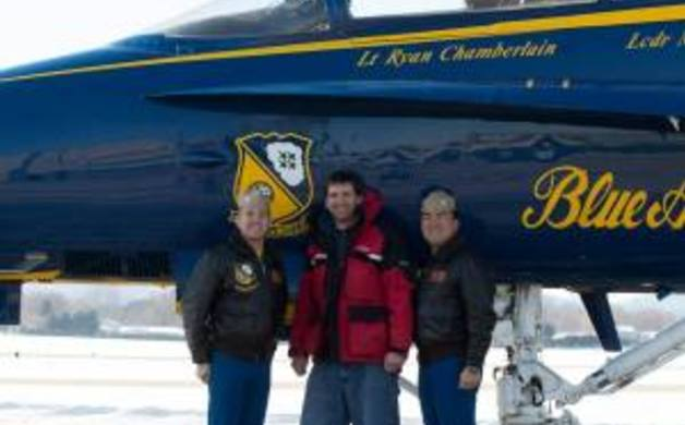 Anthony with Blue Angels