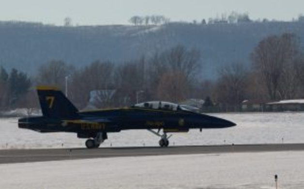 Blue Angels Parked