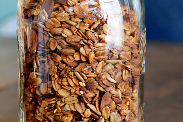 Store your fresh granola in clean canning jars.  Makes great gifts, too!