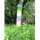 One of the 'Gradient' sculptures by James Welling in front of the Brandywine River Museum of Art.