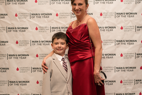 Lucas Magathan, 2015 Boy of the Year, and his mother