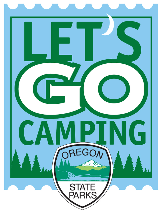 Lets go camping logo