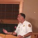 Fire Chief Mike Hazel answers questions about the proposed regional dispatch center.