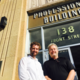 Outgoing president of Downtown Beaver Dam, Inc., Josiah Vilmin, and building owner of 138 Front Street, Paul Jancazk of Janczak Land Company, LLC., meet outside the new offices for DBDI in downtown Beaver Dam. The group just signed a two year lease for office space as they prepare for the 2017 Mural Festival with over 200 artists painting 12 to 15 murals in five days.