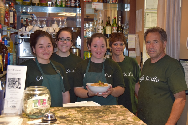 Joe Mazzola and his team at Cafe Sicilia serve up plenty of smiles and delicious authentic Italian cuisine!