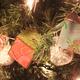 Decorative Holiday Blocks strung as a garland for Lisa Drake's tree