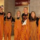"""Maple Grove Senior High staff prepare for the Crimson Homecoming """"Dance Off"""" during Pepfest"""