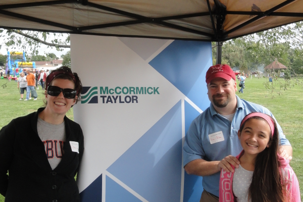 The platinum sponsors for the event were McCormick Taylor, engineers for Penn Township, and Jennersville Regional Hospital. Pictured (left to right) are Colleen Gray, Kevin Matson and his daughter, Amanda.