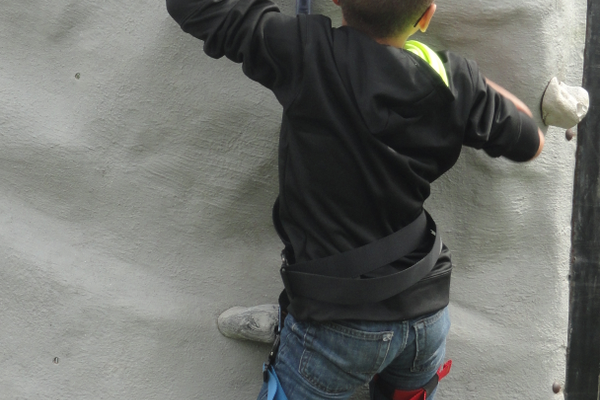 The consensus among the kids who attempted the wall climb is that it's not as easy as it looks.