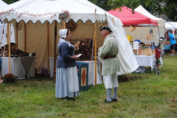 Chadds Ford Days featured many crafters and demonstrators who were dressed according to the styles of the time period.