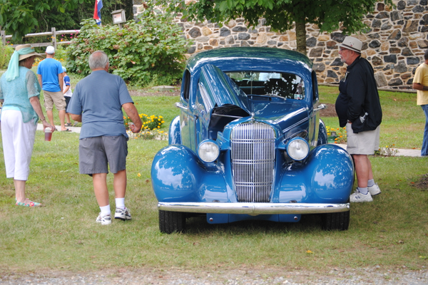 Visitors liked this classic car that was on display.