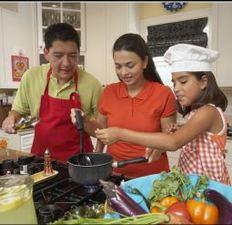 Medium family cooking