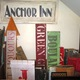 Antique-looking wooden signs for home décor.