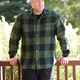 The Flapjack Flannel Shirt Jac features a fleece lining and snaps instead of buttons that are easier to handle with gloves or cold fingers.