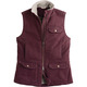 The Fire Hose Berber Vest has a tough canvas exterior, but a soft synthetic fleece lining.