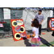 Bean bag toss at the Manhattan Beach Halloween Carnival