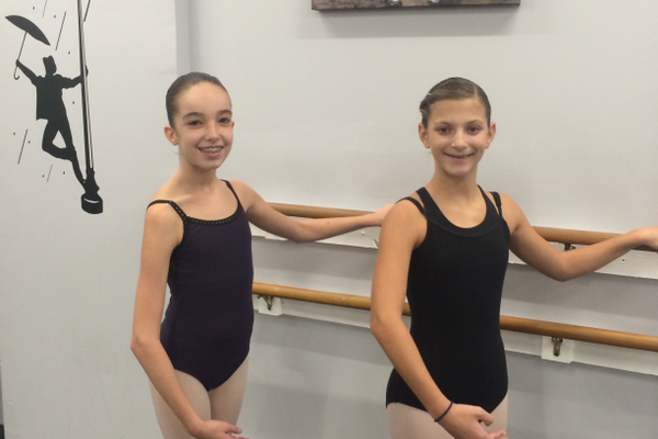 Dancers Vanessa Flynn and Ariana Perron of Tewksbury are part of the cast of The Nutcracker.