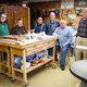 Ken Hardinger, John Schmid, Orville Sette, Robert Horne, Rich Krahenbuhl and Terry Appenfeldt are pictured above, left to right, in the Senior Center Woodshop