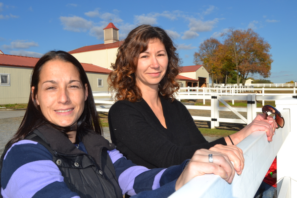 Adrienne Pankowski, left and Shauna Sullivan are currently pursuing their education to become certified equine specialists.
