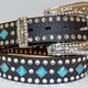 Nocona Black & Diamond Turquoise Bling Belt $44 at Redneck Bling, 492 Main Street, Placerville. 530-558-0722, getredneckbling.com