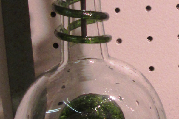 An olive oil decanter by Kevin Lehman.