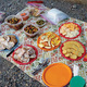 The lunch spread during a half-day ride up above the Rio Grande River corridor.
