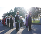 Knights of Columbus in full regalia before the opening procession.