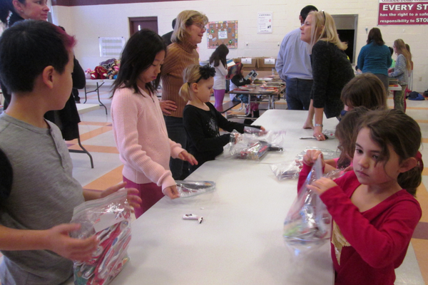 Bags of toothbrushes and other dental care items were put together by students at Chadds Ford Elementary School.