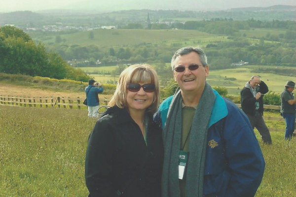 Skip and Sharon Essick in the west of Ireland in 2009.