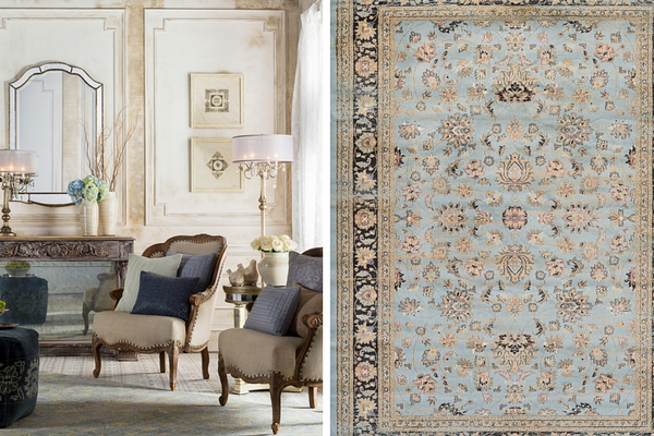 From Left: Rugs and décor by Surya. http://surya.com. Area rug by Zahara.