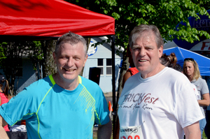 City Manager Bob Hart  Mayor Brian Johnson placed first in his age group  Credit Movin Pictures  2015