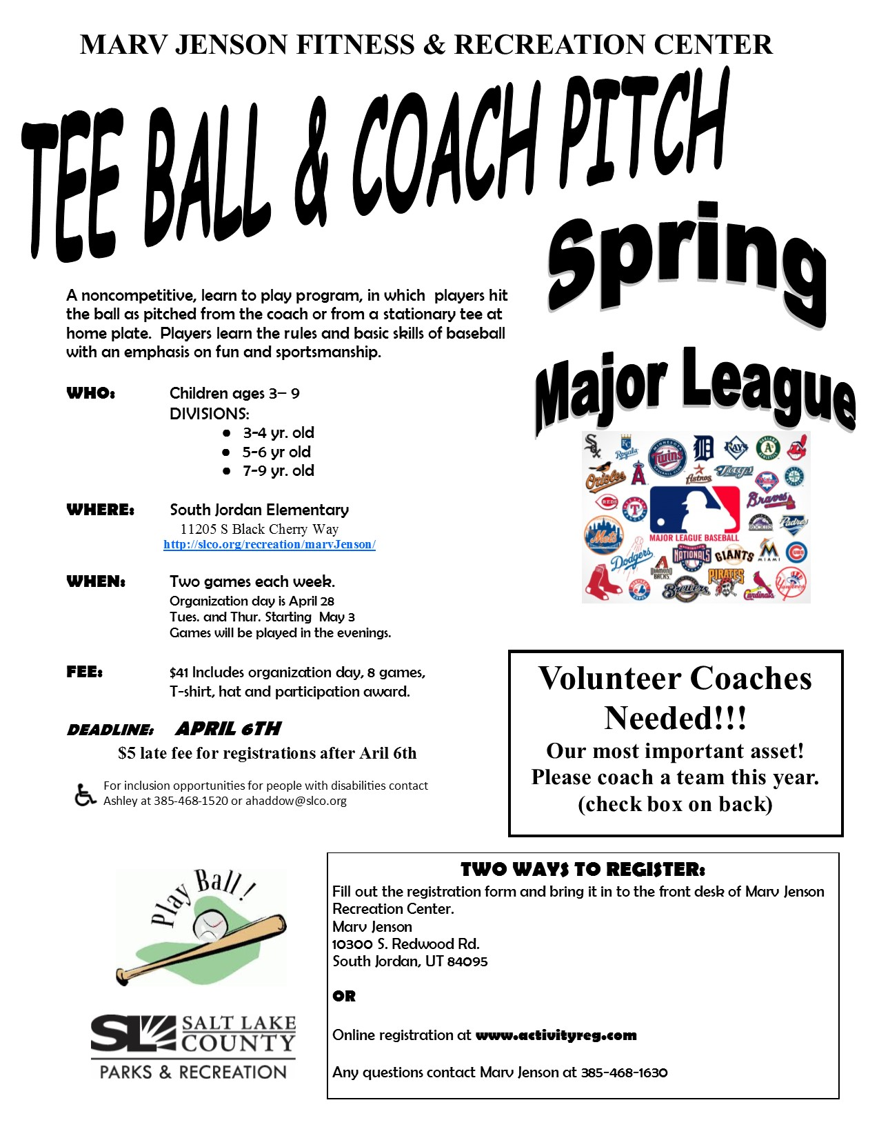 T ball 20coach 20pitch 20flyer 20and 20registration 20spring 202016