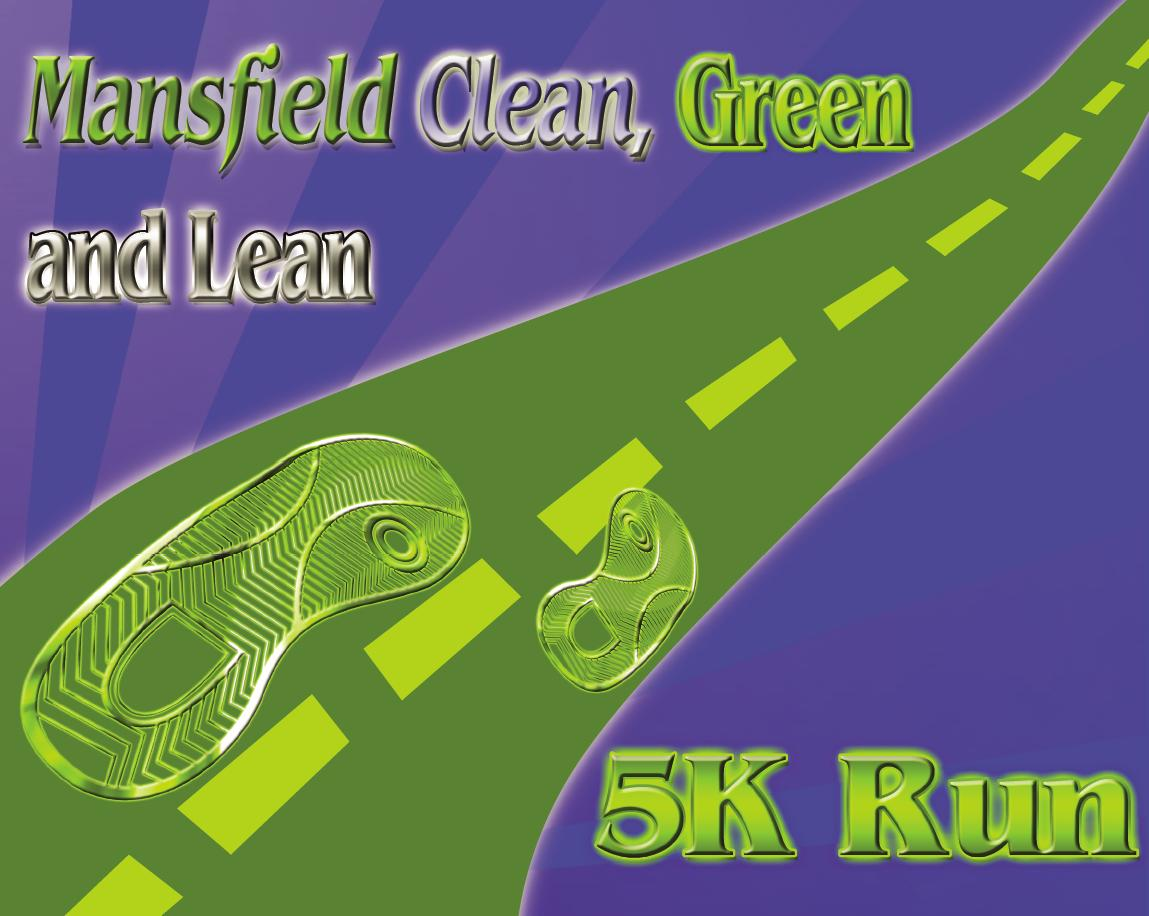 Mansfield clean green and lean 5k run logo